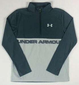 Boys Youth Under Armour Loose Quarter Zip Polyester Long Sleeve Shirt $21.99
