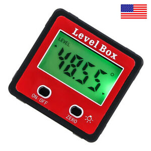 Magnetic Digital Inclinometer Level Box Gauge Angle Meter Finder Protractor US $14.98