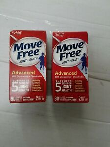 e 2 pack Move Free Advanced w Glucosamine & Chondroitin 80 tabs exp4 20 plus
