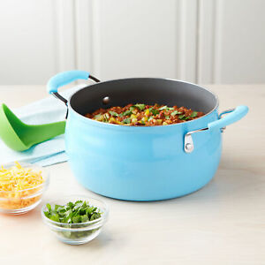 Tasty 5 Quart Non-Stick Dutch Oven with Lid and Stay-Cool Silicone Handles
