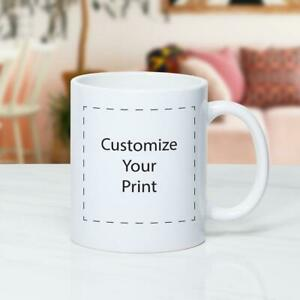 Coffee mug personalized Custom Photo Text Logo Name PrintedGift 11 oz white cup
