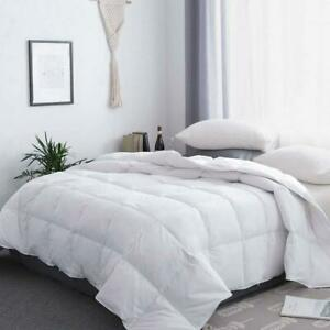 White Goose Down Comforter All Season Queen Size Hotel Light Weight Duvets Inset
