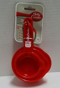 Betty Crocker-kitchen Measuring Cups, for cooking and baking, Red