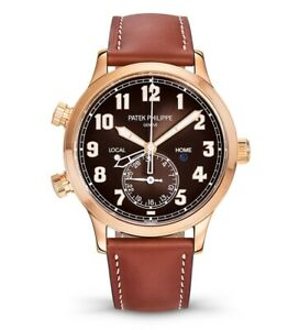 Patek Philippe NEW 5524R Complications 18k Rose Gold Pilots Watch Box/Papers