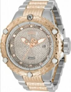 Invicta Subaqua Noma VI Swiss Automatic Diamond Two Tone 18k Rose Gold Watch