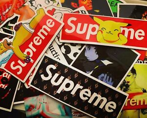 50 Supreme Hypebeast Stickers for Hydro Flasks, Laptops, Skateboards - USA STOCK