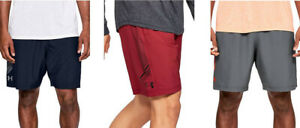 UNDER ARMOUR UA MEN'S WOVEN GRAPHIC SHORTS M L XL XXL BLACK GRAY BLUE RED NWT $24.95