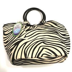 NEW! Fit & Fresh Zebra Print Insulated Fashion Fabric Cooler Tote Lunch Box Bag