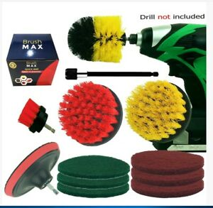 5pcs Drill Brush and Extension Set All Purpose Drill Scrubber For Cleaning