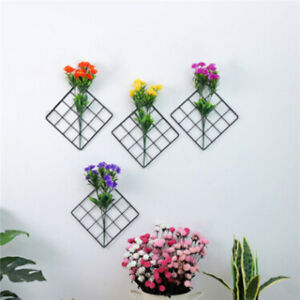 Creative Square Shape Iron Grid Photo Wall Picture Display Hanging Wall Photo LP $4.73