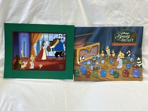 Beauty and the Beast Enchanted Christmas Lithograph Disney Store $9.99