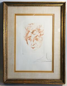 Salvador Dali Etching Portrait of Marc Chagall Hand Signed Artist#x27;s Proof 1968 $1125.00