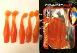 5 Soft Plastic Fishing Lure Tackle Grub Worm Paddle TAIL FLATHEAD Snapper Lures