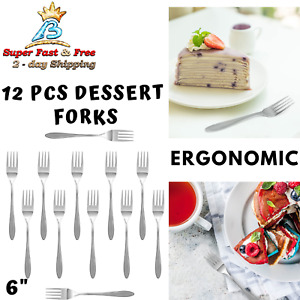 Kitchen Mini Dessert Forks Set Stainless Steel Kids Fork Restaurant Utensils New