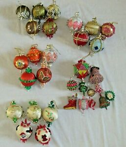 Lee Wards Christmas Ornaments Beaded Vintage Completed Choice Lots