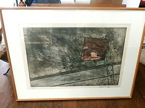 Edward H. Coffin Modern Abstract Geometric Lithograph Print AP Signed