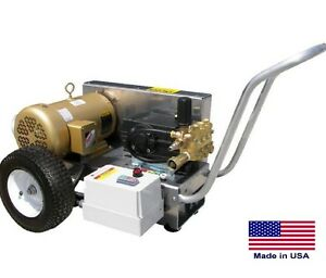 PRESSURE WASHER Commercial - Electric - 4 GPM  3500 PSI  10 Hp  230V - 3 Ph  CAT