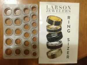 Larson Jewelers Ring Sizer Finger Plastic Grey Size From 4 15 New $7.00