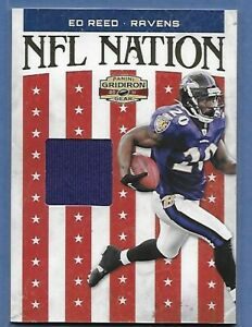 ED REED BALTIMORE RAVENS GAME WORN JERSEY SERIAL ##x27;d 196 225 KILLER $7.50