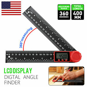 LCD Digital Angle Finder Ruler 8 Inch Protractor Measure Tools 200mm Angle Gauge $12.98
