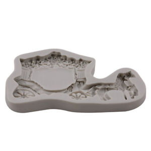 Horse Silicone Food Cupcake Mold Fondant Cake Decorating Craft Mould LP