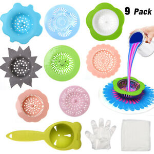 9pcs Acrylic Paint Pouring Strainers Plastic Strainers Silicone Pouring Drain US