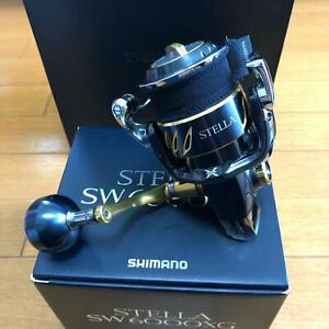 Shimano 13 STELLA SW6000XG Fishing Spinning Reel With Case and Box Used good