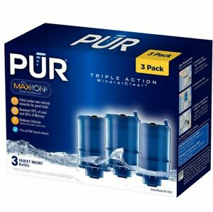 3 Pack RF-9999 Water Filter Compatible with Pur Faucet Replacement Water Filter