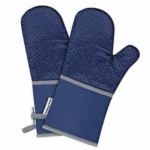 L.A. Sweet Home 14 Inch Extra Long Silicone Oven Mitts Solid Printed Pat X-Large
