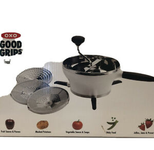 OXO Good Grips 2.3Qt Stainless Steel Hot Cold Food Mill Grinder 3 Discs NEW