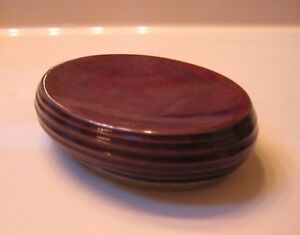Joseph Abboud Chocolate Brown Soap Dish Glazed Ceramic Pottery 2 Available MINT!