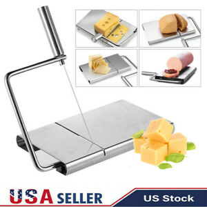 Stainless Steel Wire Cheese Bread Slicer Cutter Board Cutting Kitchen Hand Tool