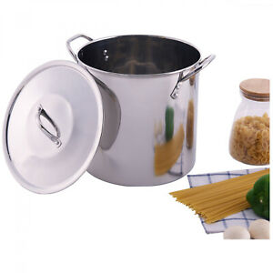 12-Quart Stainless Steel Stockpot Lid Stock Pot Cooking Kitchen Soup Stew Pasta