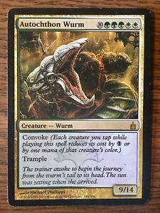 MTG x1 AUTOCHTHON WURM 1x EX cond Ravnica: City of Guilds Free Shipping Magic
