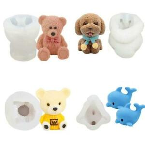 Ice Cube Maker 3D Bear Dolphin Shape Silicone Chocolate Mold DIY Whiskey Drink