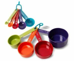 Farberware Color Set of 5 Measuring Spoons and 4 Cups MultiColor Durable Plastic