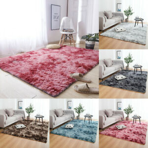 Shaggy Area Rugs Fluffy Tie Dye Floor Soft Carpet Living Room Bedroom Large Rug $66.48