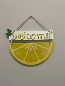 Lemon Welcome Home Decor Sign