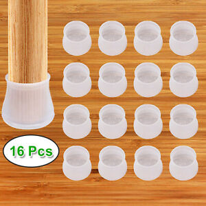 16pcs Silicone Table Chair Leg Protection Cover Furniture Feet Pad Cap Prote