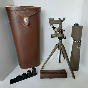 VINTAGE HERTER'S INC SPOTTING SCOPE LENS & CASE 15X60 20X60 30X60 40X60 60X60