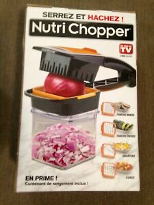 Nutri Chopper As Seen On TV 5-in-1 Handheld Kitchen Slicer New Dicer Wedge Cubes