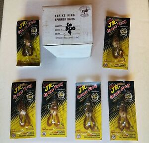 Strike King Lure Spinner Baits Jr. Grass Frog Fishing Tackle Bait NOS Lot Of 6
