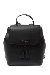 kate spade new york Hayes Leather Medium Backpack NWT Black $358