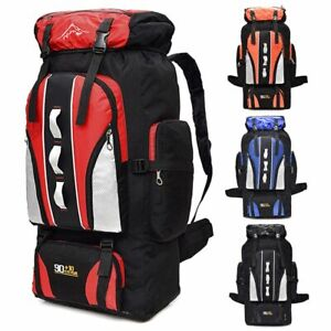 100L Outdoor Sporting Bag Hiking Camping Backpack Travel Trekking Day Pack Nylon