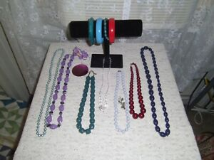 Lot Of Mixed Colorful Vintage To Modern Jewelry