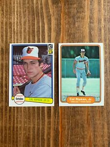 1982 Donruss #405 1982 Fleer #176 Cal Ripken HOF Rookie RC Lot *Pack Fresh* PSA?