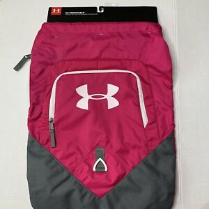 NWT Under Armour Undeniable Sackpack Day Backpack Sack Hot Pink Bag Never Used $25.00