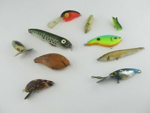 (10) Vintage Bass & Other Crankbaits Lot of 10 Vintage Fishing Lures