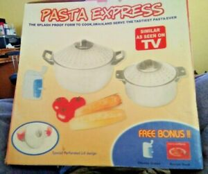 Pasta Express Cooking .Pots Drains And Serving Set.