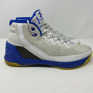 Under Armour Curry 3 Dub Nation Home 1269279 102 Sz 11 White Basketball $49.99